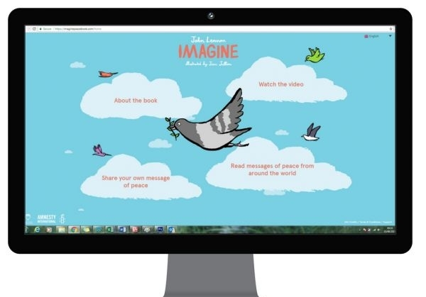 New website launches to celebrate Imagine, The first picture book set to John Lennon's iconic lyrics with illustrations by award-winning artist Jean Jullien