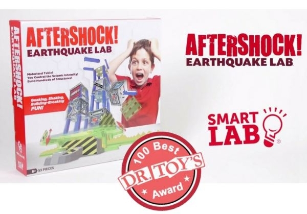 SmartLab Toys' AfterShock! Earthquake Lab wins 2017 Dr Toy's 100 Best Children's Products and selected as a 10 Best Educational Products of 2017